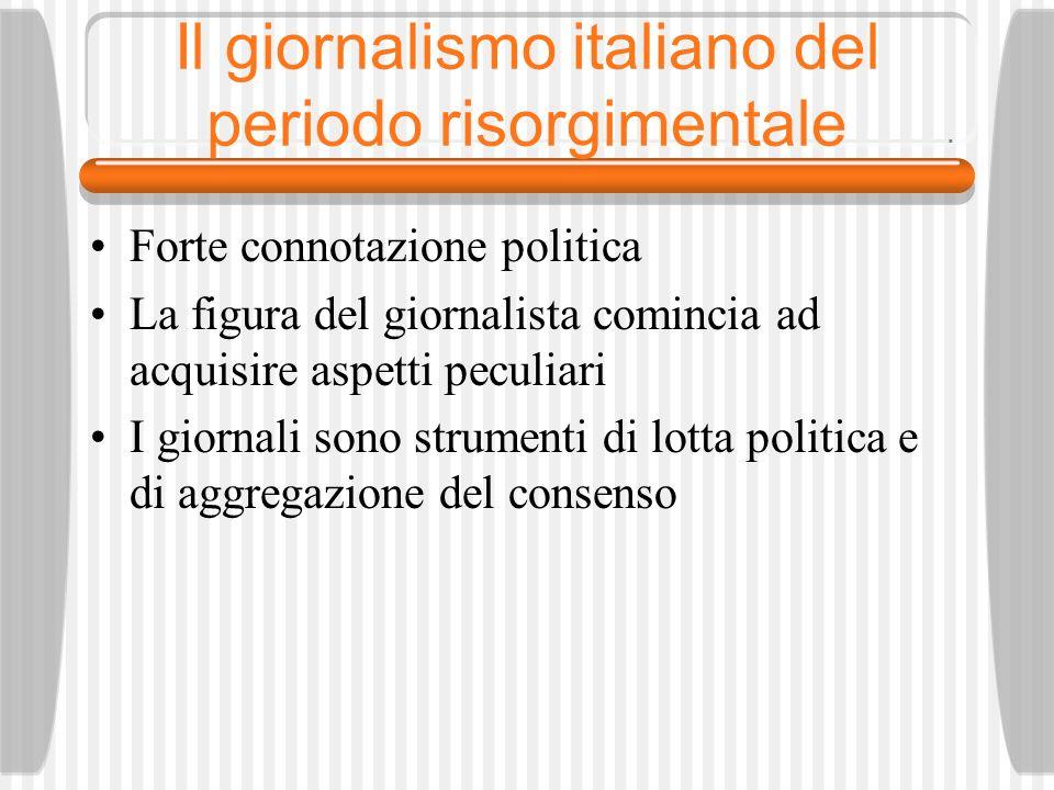 Il giornalismo italiano del periodo risorgimentale