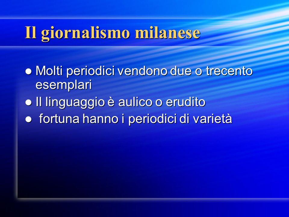 Il giornalismo milanese