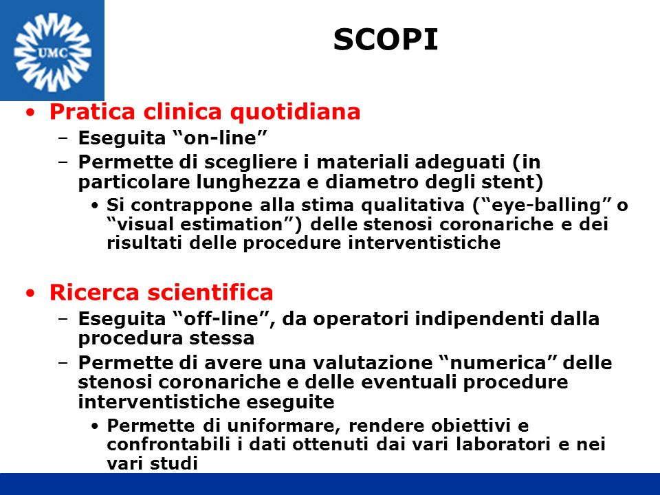 SCOPI Pratica clinica quotidiana Ricerca scientifica