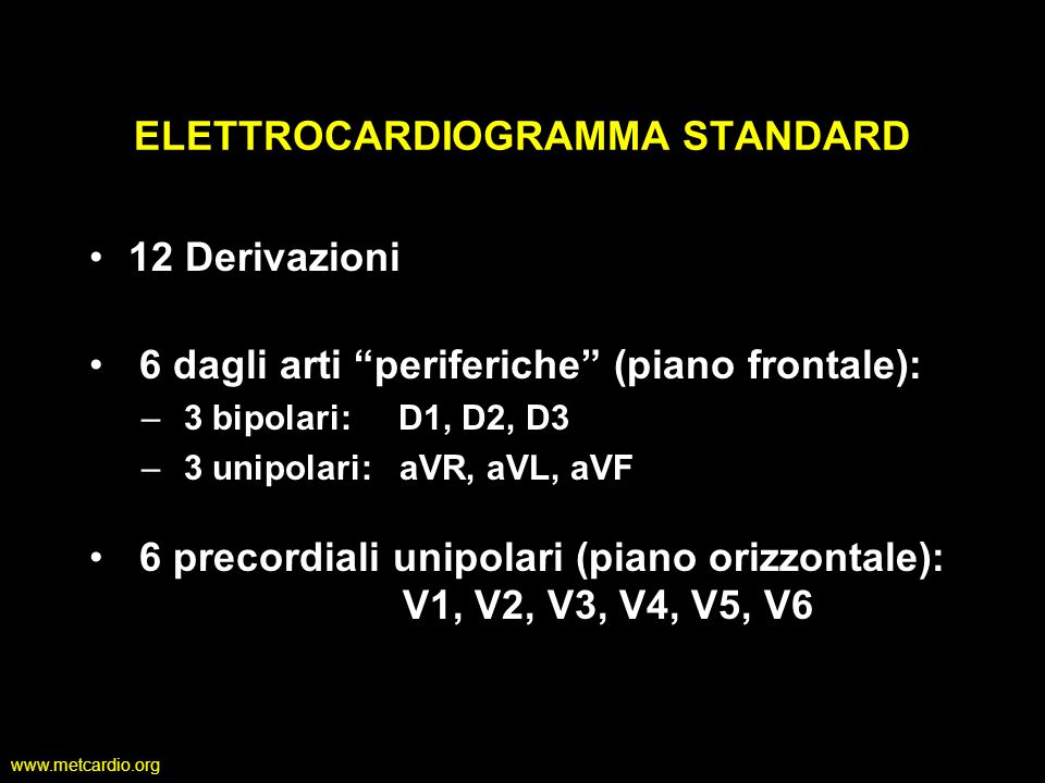 ELETTROCARDIOGRAMMA STANDARD