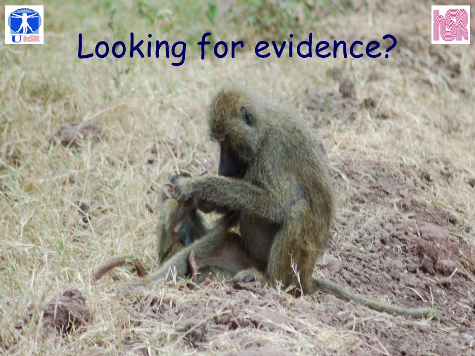 Looking for evidence