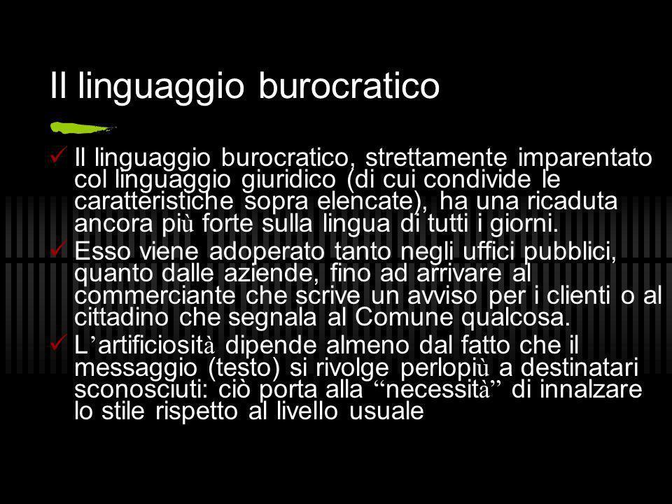 Il linguaggio burocratico