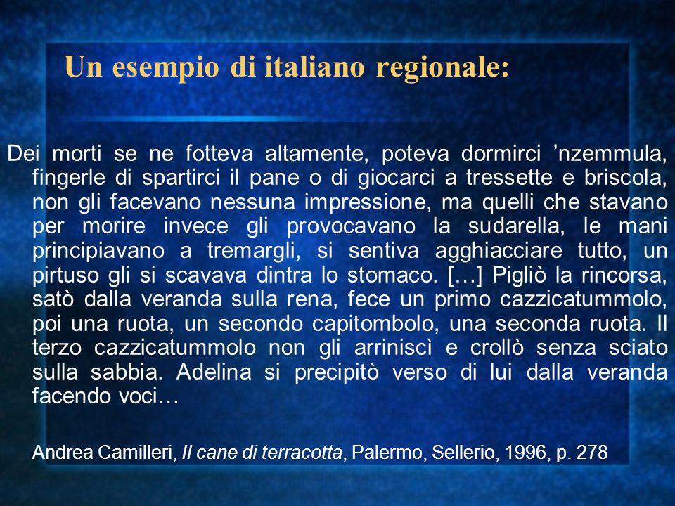Un esempio di italiano regionale: