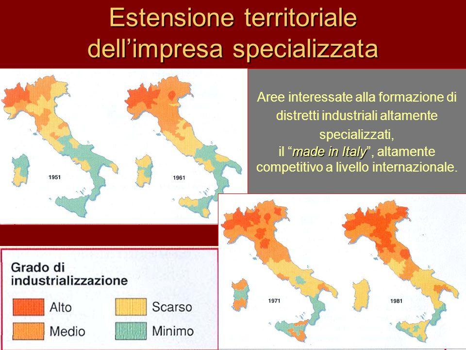Estensione territoriale dell'impresa specializzata