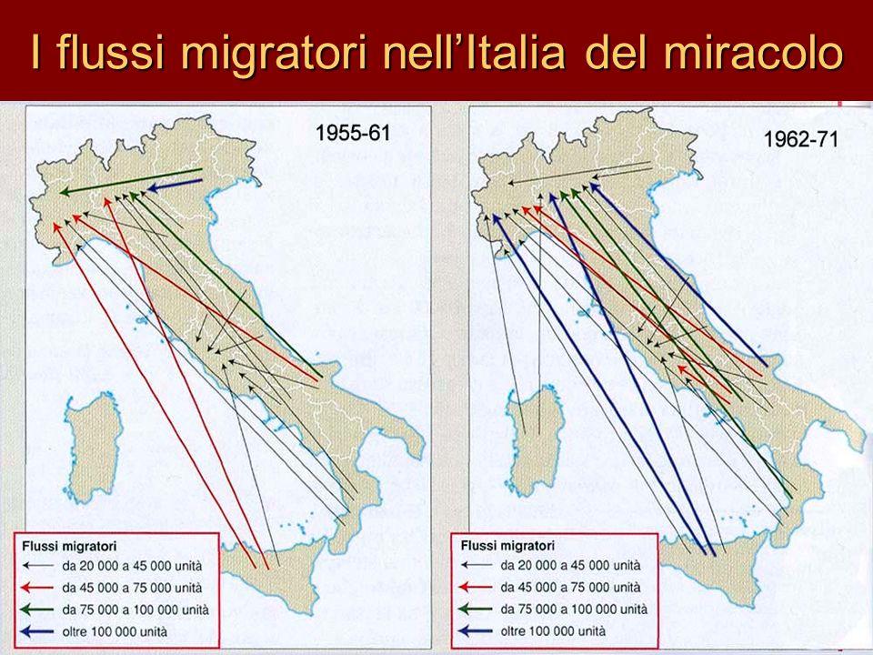 I flussi migratori nell'Italia del miracolo