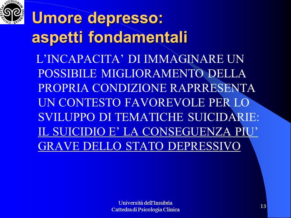 Umore depresso: aspetti fondamentali
