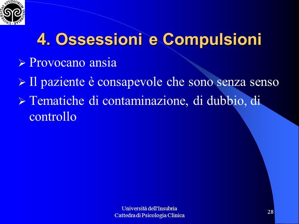 4. Ossessioni e Compulsioni