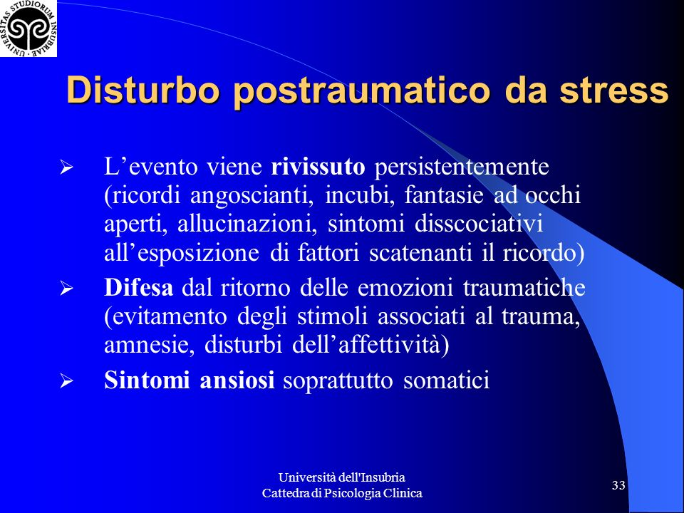 Disturbo postraumatico da stress
