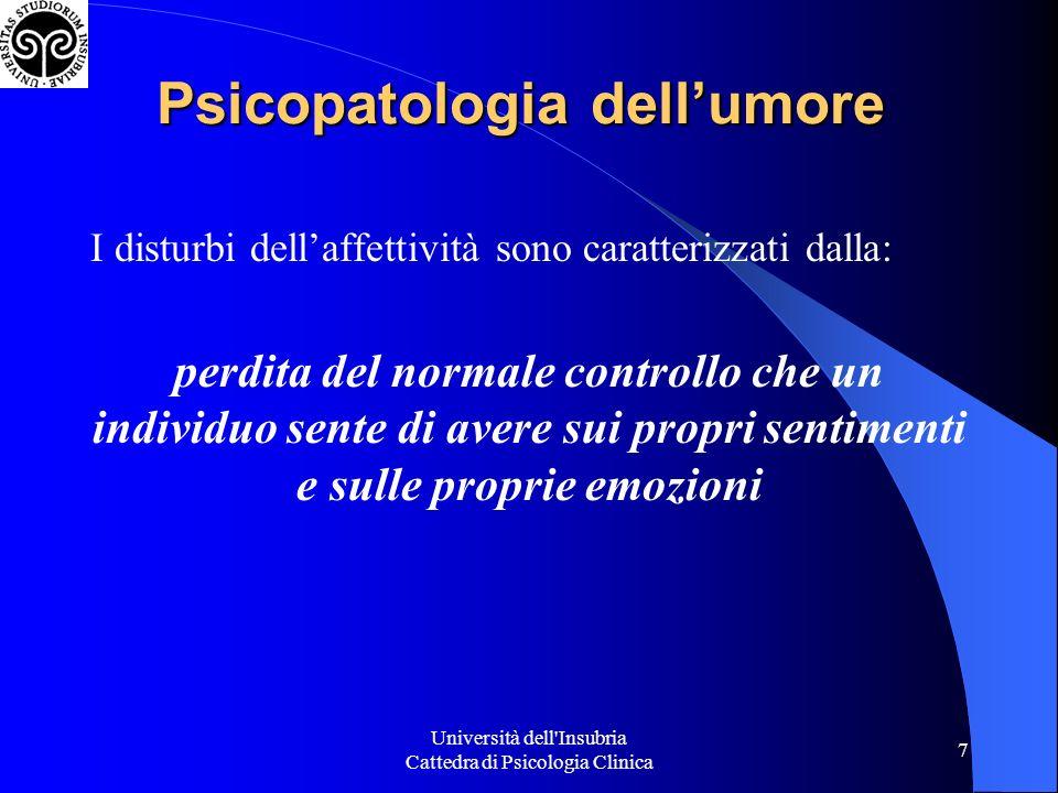 Psicopatologia dell'umore