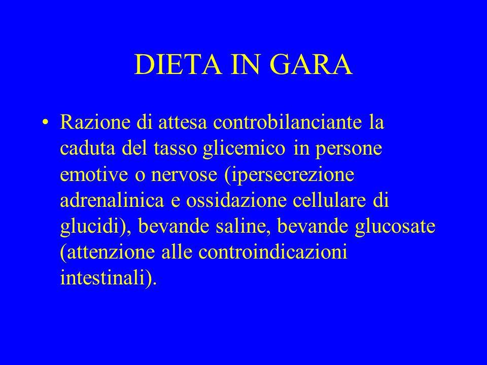 DIETA IN GARA