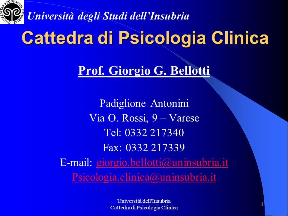 Cattedra di Psicologia Clinica