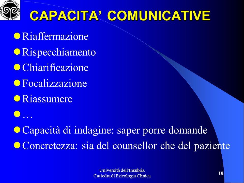 CAPACITA' COMUNICATIVE