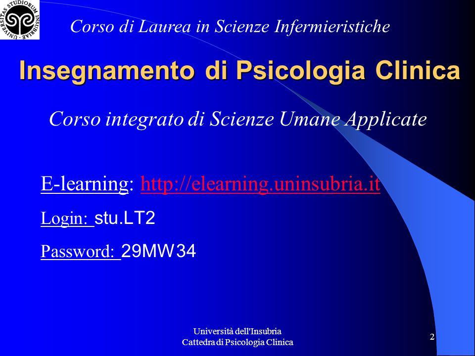 Insegnamento di Psicologia Clinica