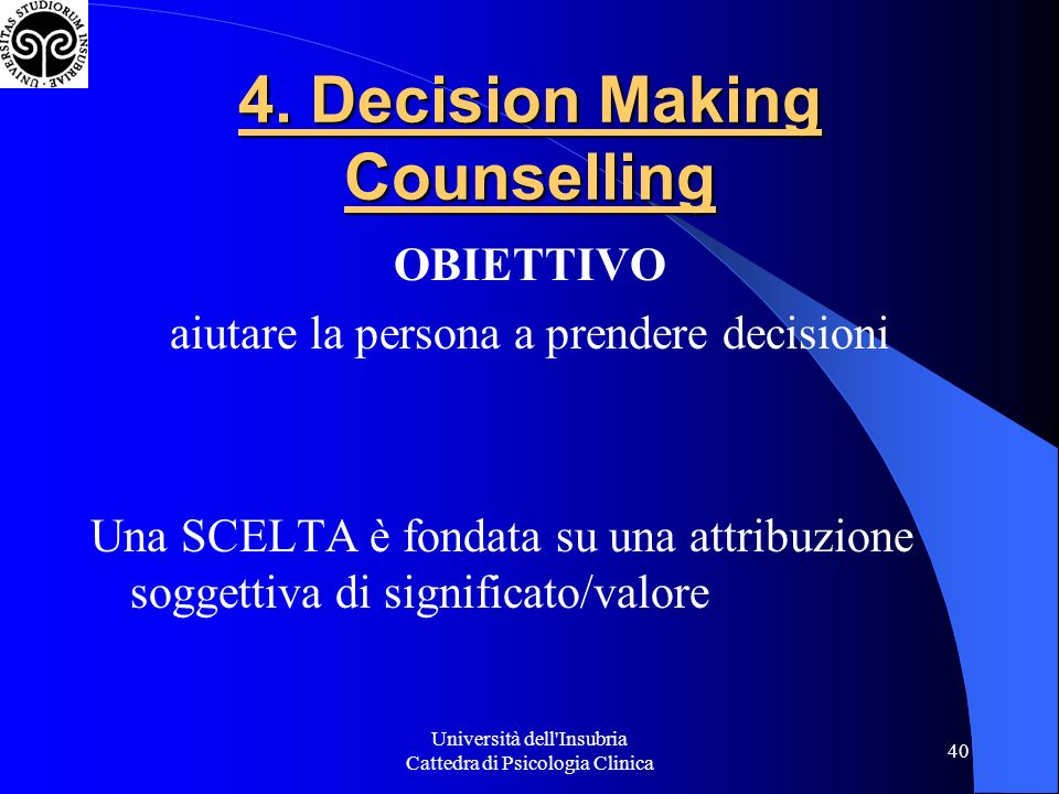 4. Decision Making Counselling