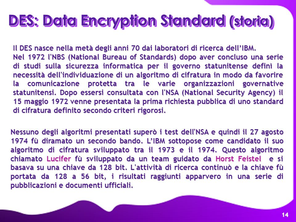 DES: Data Encryption Standard (storia)