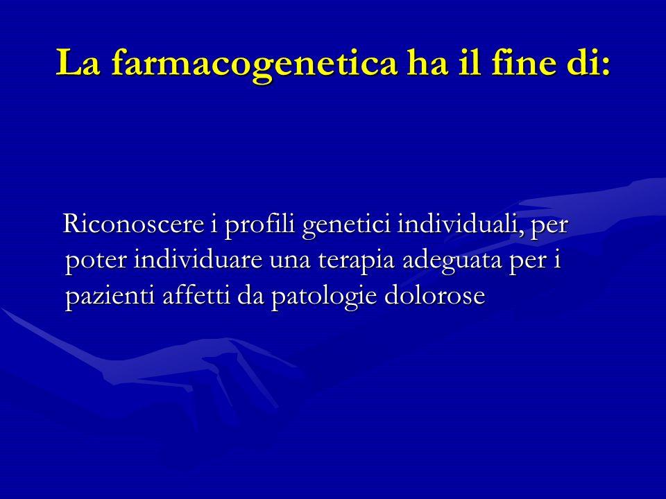 La farmacogenetica ha il fine di: