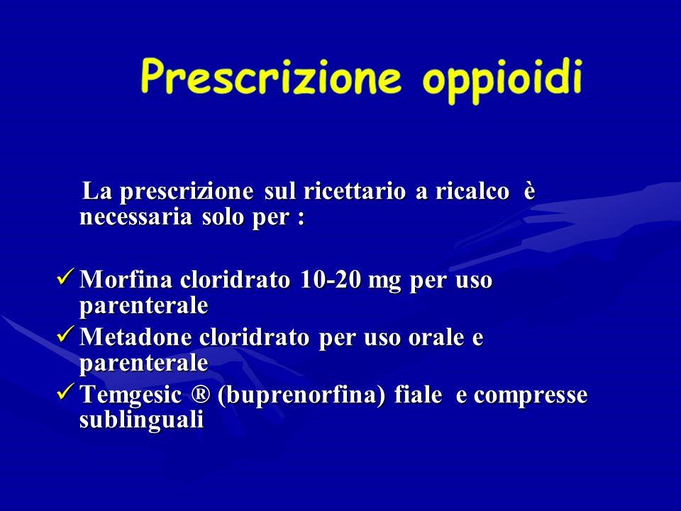 Prescrizione oppioidi