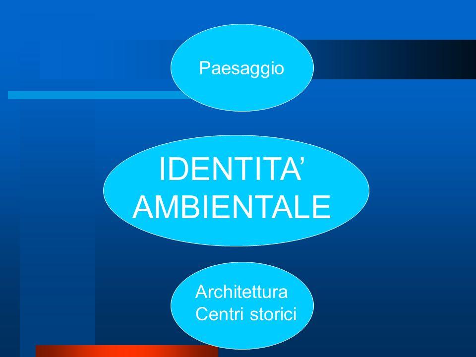 Paesaggio IDENTITA' AMBIENTALE Architettura Centri storici