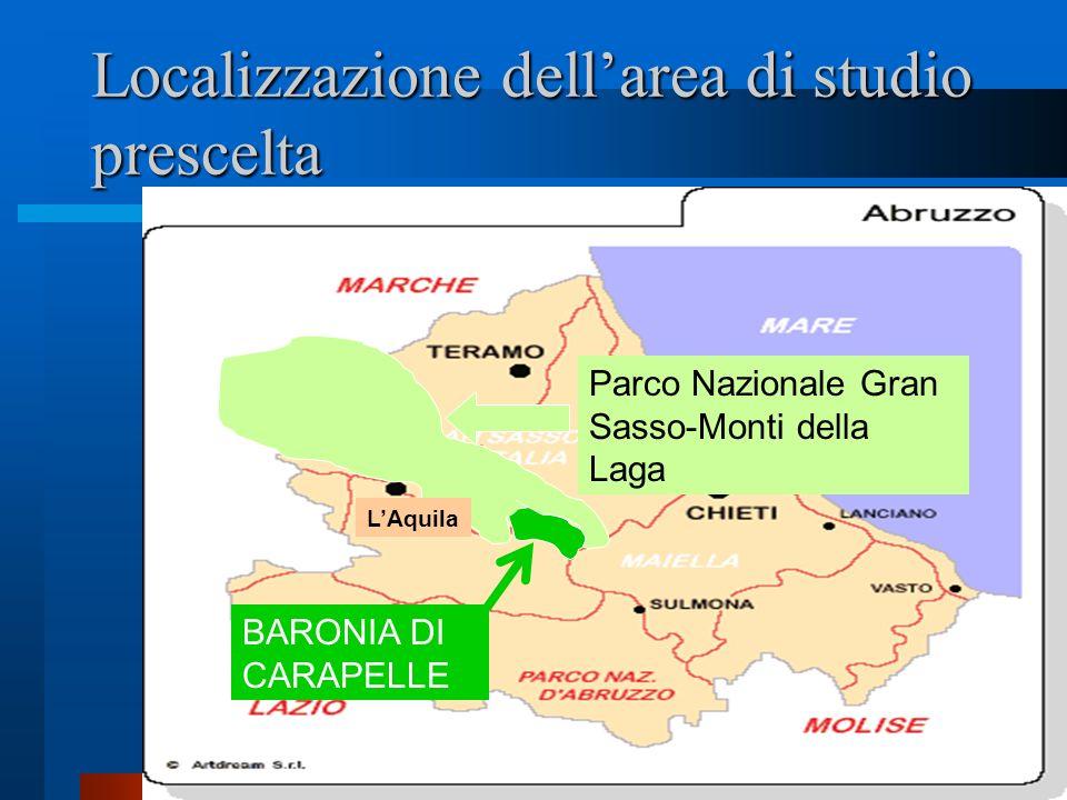 Localizzazione dell'area di studio prescelta