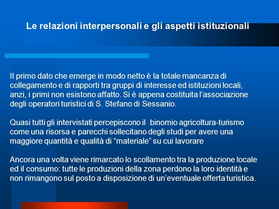 Le relazioni interpersonali e gli aspetti istituzionali