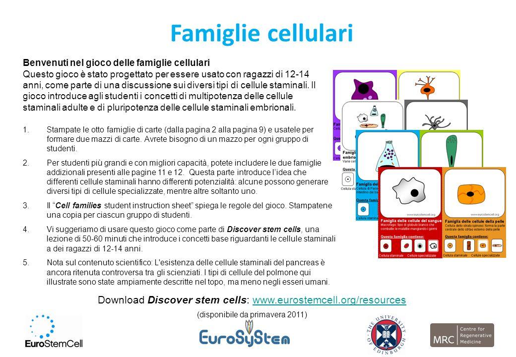 Famiglie cellulari Benvenuti nel gioco delle famiglie cellulari.