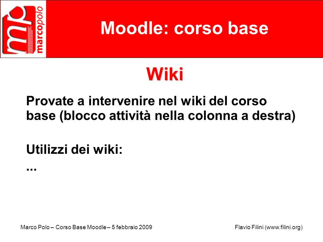 Moodle: corso base Wiki