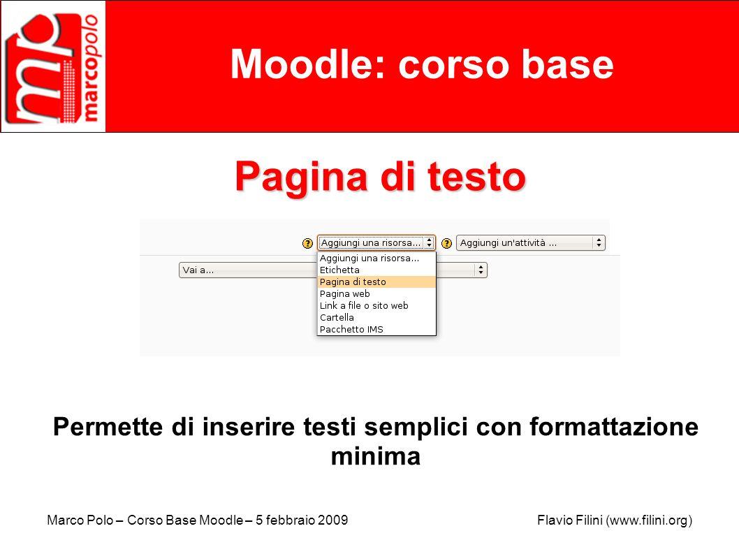 Permette di inserire testi semplici con formattazione minima