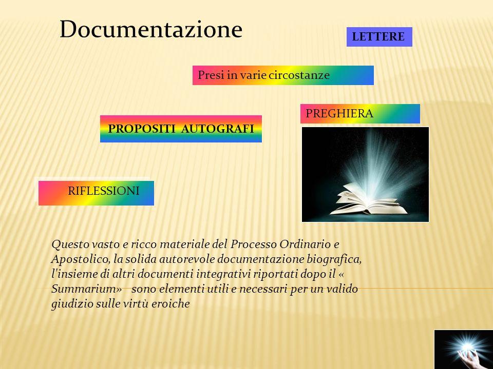 Documentazione LETTERE Presi in varie circostanze PREGHIERA