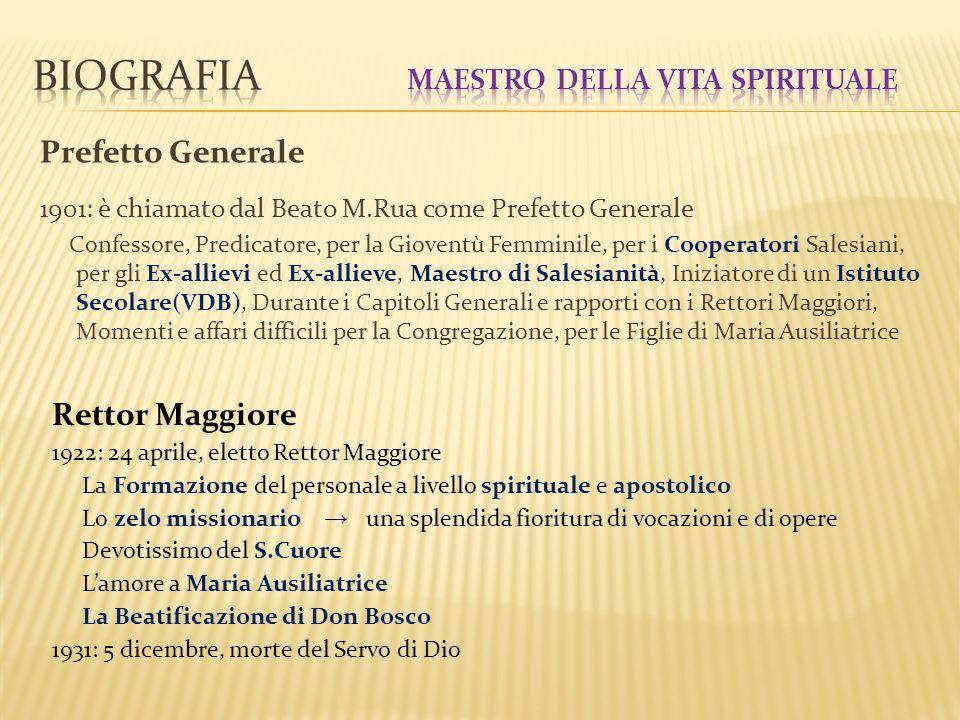 Biografia Maestro della vita spirituale