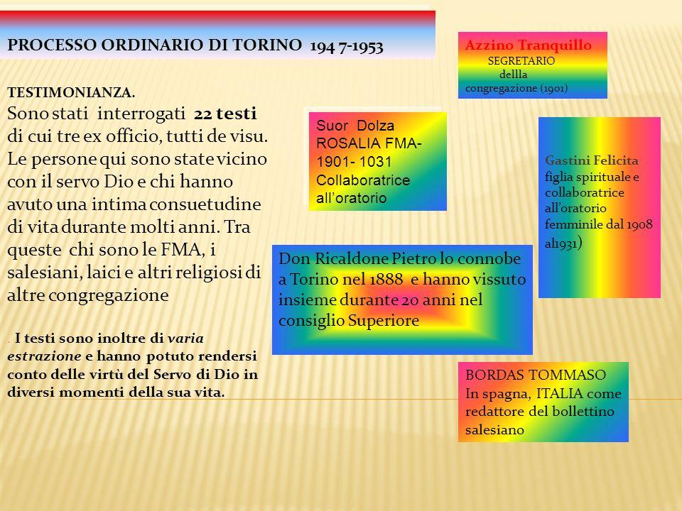 PROCESSO ORDINARIO DI TORINO 194 7-1953