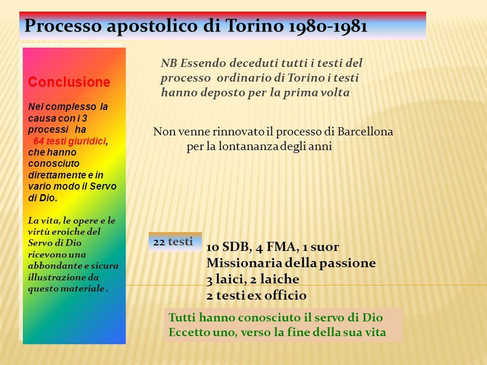 Processo apostolico di Torino 1980-1981