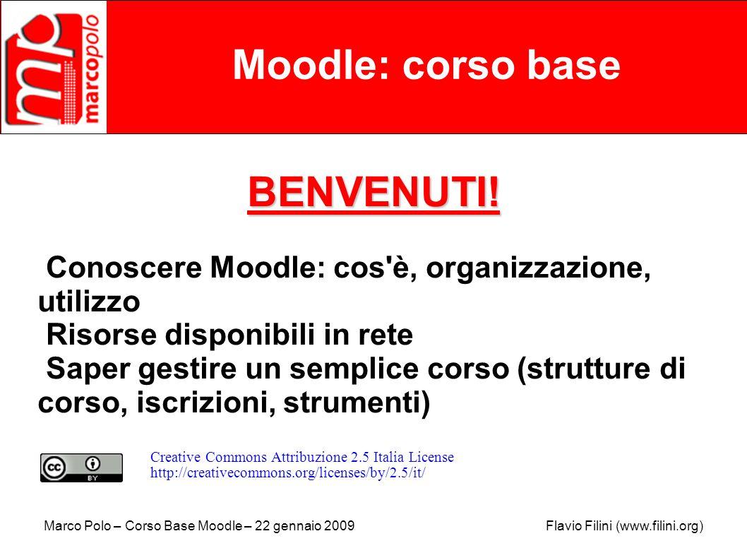 Moodle: corso base BENVENUTI!