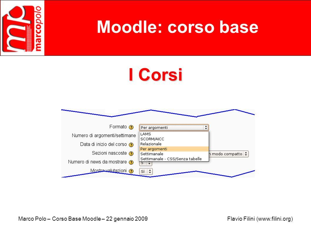 Moodle: corso base I Corsi