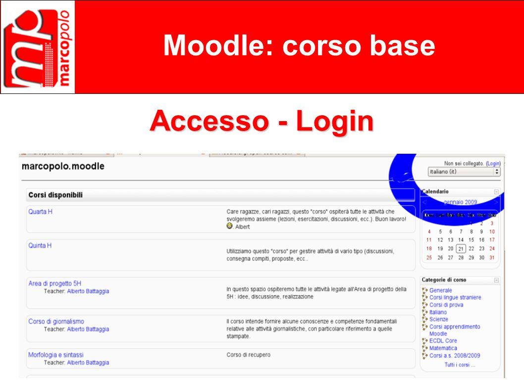 Moodle: corso base Accesso - Login