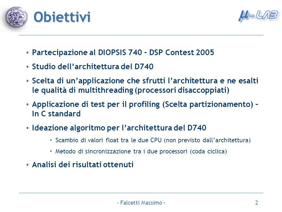 Obiettivi Partecipazione al DIOPSIS 740 – DSP Contest 2005