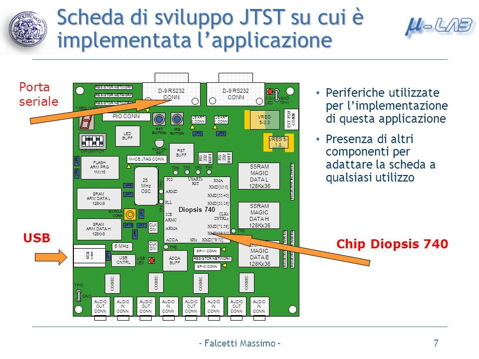 Scheda di sviluppo JTST su cui è implementata l'applicazione