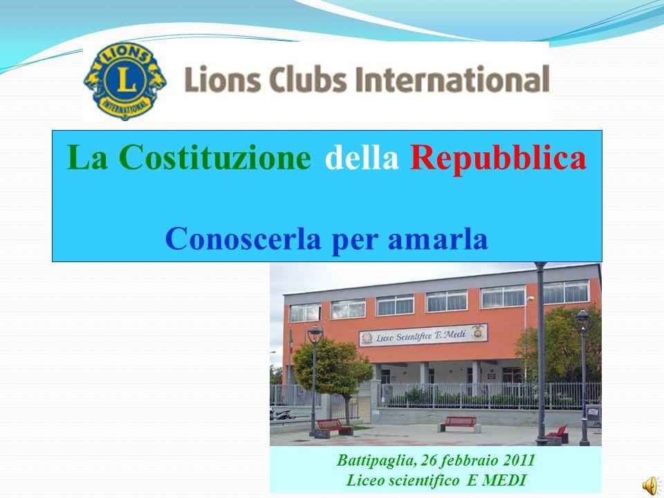 La Costituzione della Repubblica Liceo scientifico E MEDI