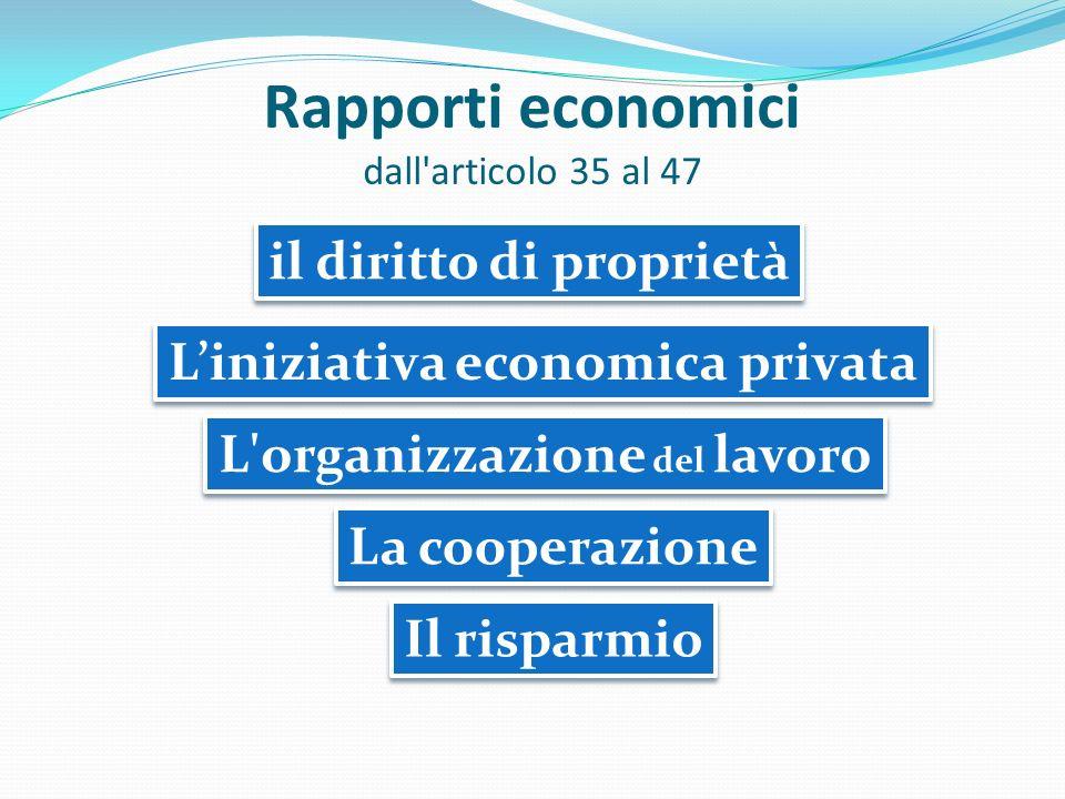 Rapporti economici dall articolo 35 al 47