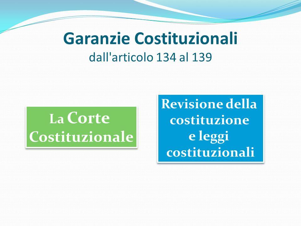 Garanzie Costituzionali dall articolo 134 al 139