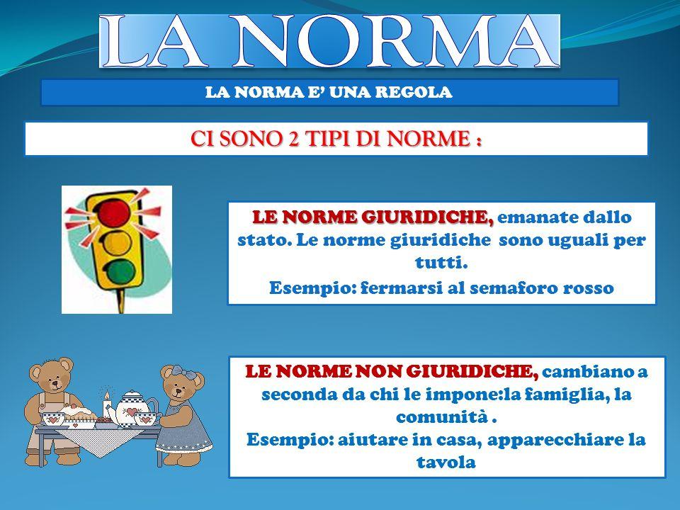 LA NORMA CI SONO 2 TIPI DI NORME :