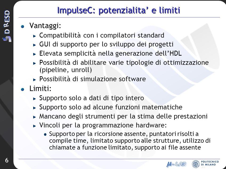 ImpulseC: potenzialita' e limiti