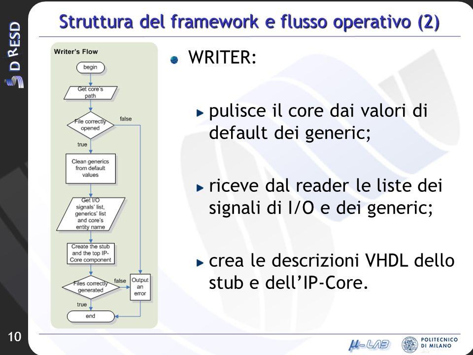 Struttura del framework e flusso operativo (2)