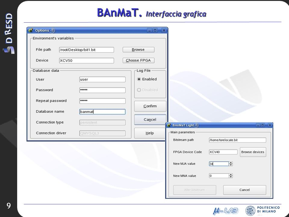 BAnMaT. Interfaccia grafica