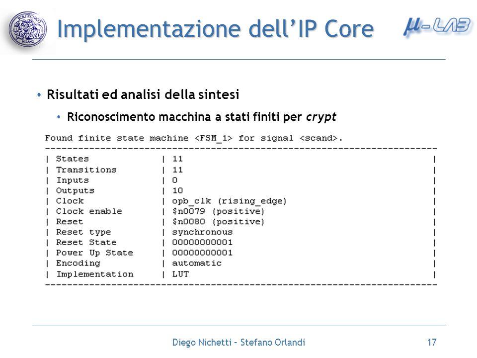 Implementazione dell'IP Core