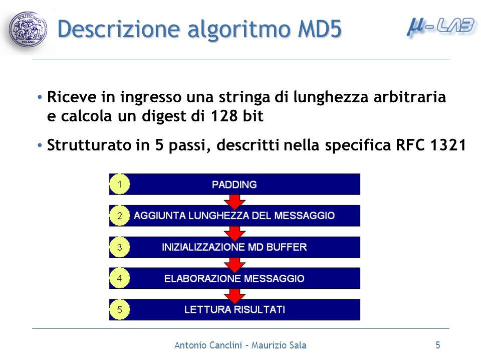 Descrizione algoritmo MD5