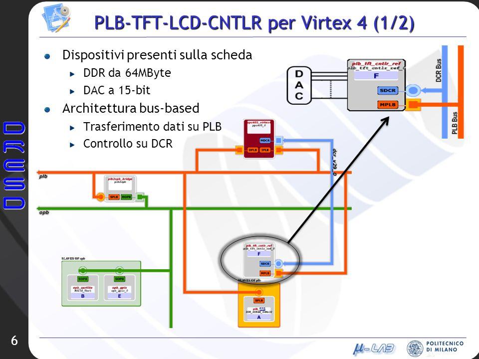 PLB-TFT-LCD-CNTLR per Virtex 4 (1/2)