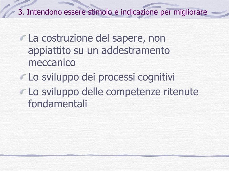 3. Intendono essere stimolo e indicazione per migliorare
