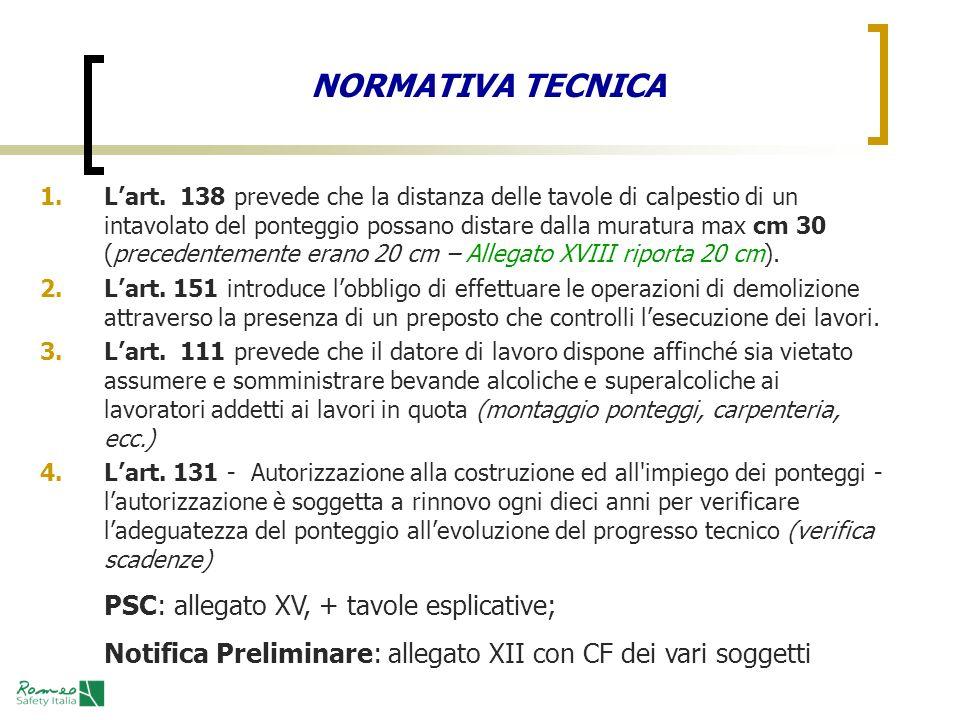 NORMATIVA TECNICA PSC: allegato XV, + tavole esplicative;