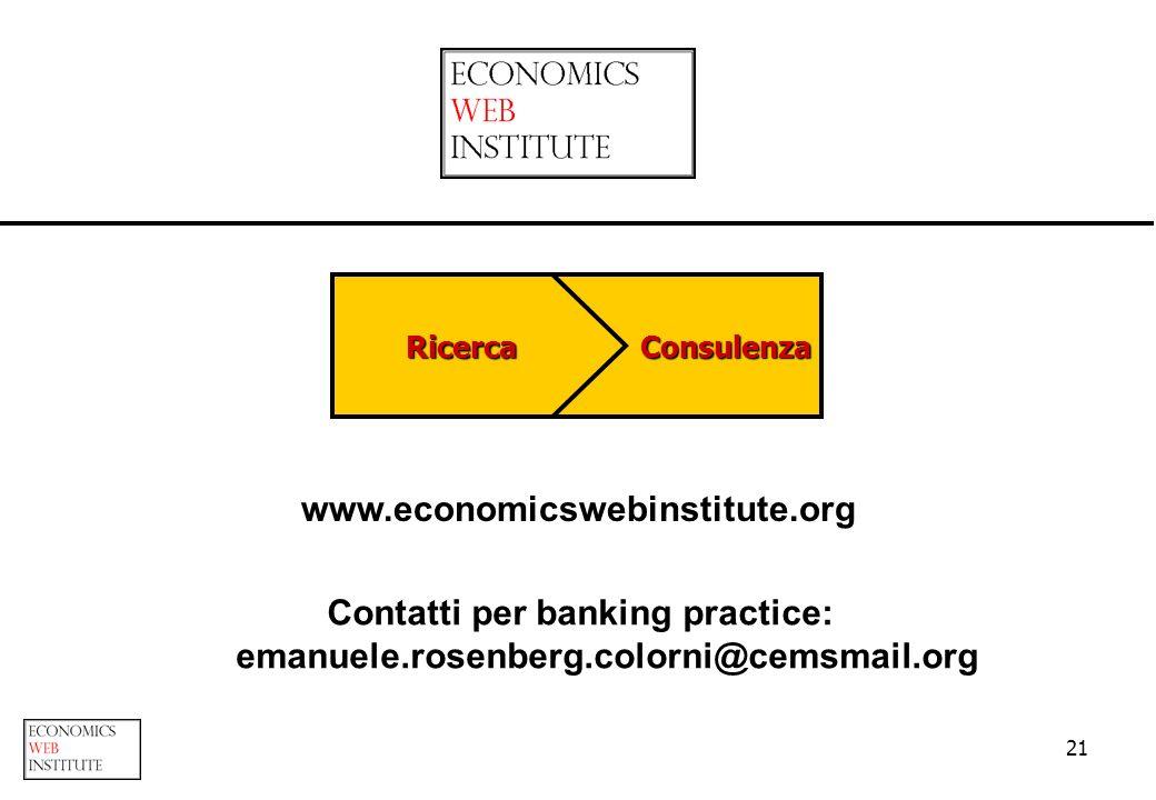 Contatti per banking practice: emanuele.rosenberg.colorni@cemsmail.org