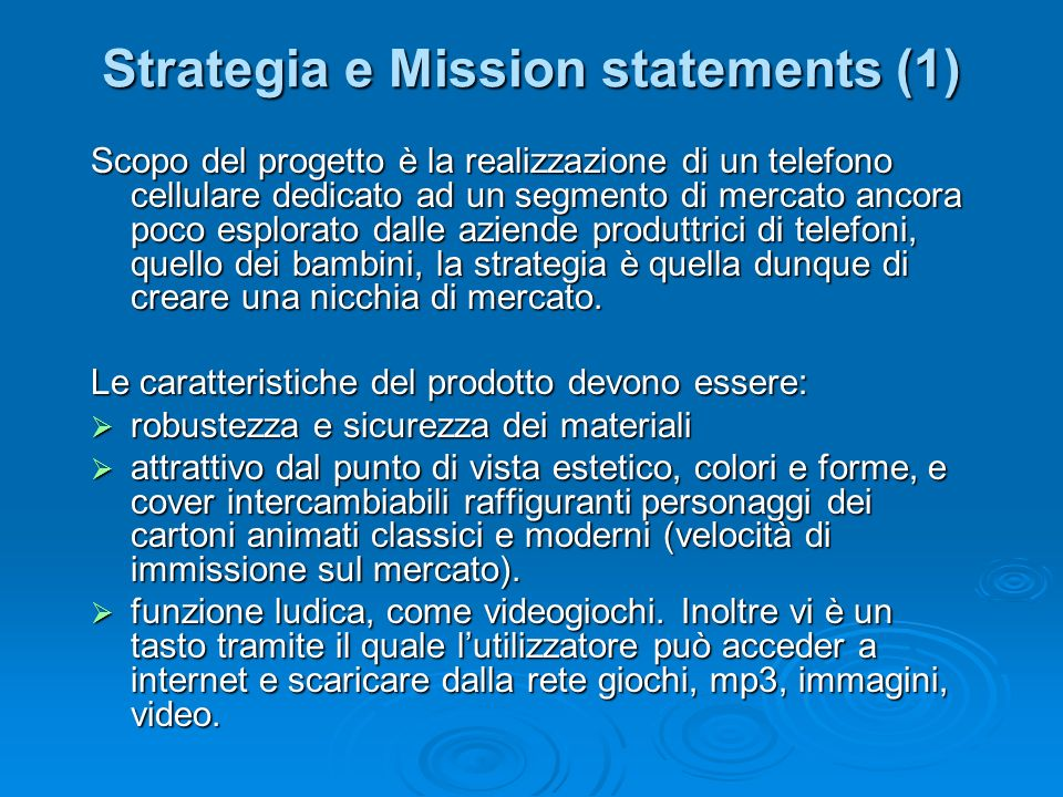 Strategia e Mission statements (1)